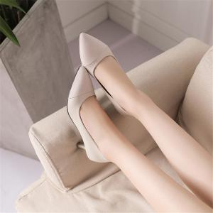 Miss Shoe Hsya-567 Pointed Glasses and Fashion One-Step Shoes -