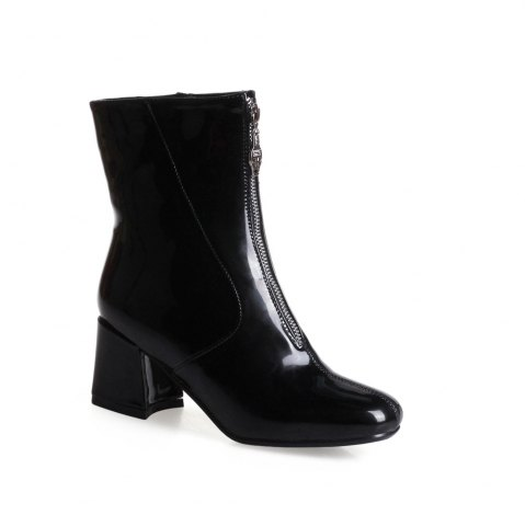 New Shoe Miss Bb17-22 High Heel Square Head Zipper Fashion Trend Martin Boots