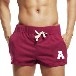 Taddlee Sexy Hommes Sport Courir Short Shorts Coton Rouge Poches Gym Formation Big Soft Low Rise Boxer Troncs Bas -