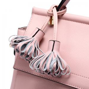SITIYA Top Handle Tassel Small Style Women Leather Tote Purse Shoulder Bag -