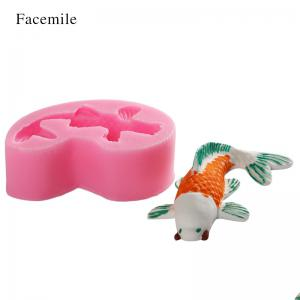 3D Animal Goldfish Silicone Fondant Soap Cake Biscuit Mold Cupcake Jelly Candy Chocolate Decoration Baking Tool -