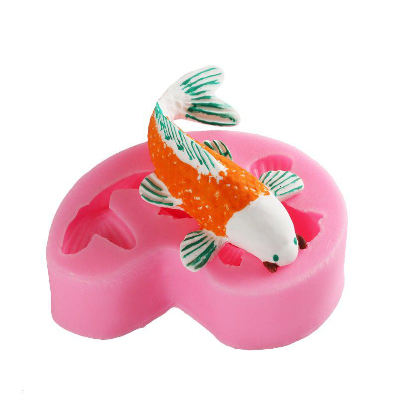 Discount 3D Animal Goldfish Silicone Fondant Soap Cake Biscuit Mold Cupcake Jelly Candy Chocolate Decoration Baking Tool