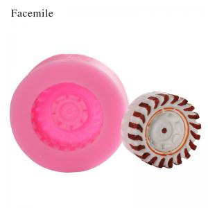 Facemile Silicone Tires Car Wheel Fondant Cake Mold Chocolate Cookies Mould Bakeware Home Kitchen Baking Decorating Tools -