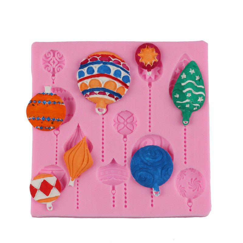 Unique Facemile Christmas DIY Balloon Cake Border Fondant Gum Paste Cupcake Chocolate Silicone Mold Birthday Cake Decorating Tool