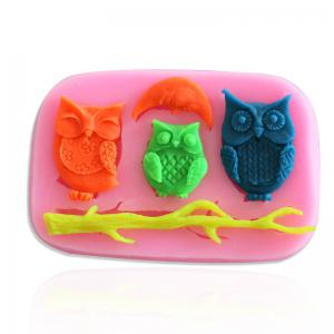 Facemile Epoxy Mold Owls Moon Tree Branch Silicone Mold Cartoon Fondant Cake Soap Chocolate Mould For Decor Cake Bakeware Tool -