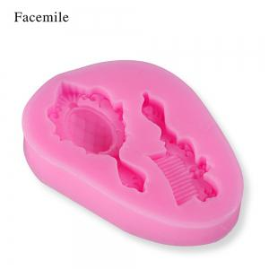 Facemile New DIY Mirror Comb Soap Candy Silicone Fondant Mold Sugar Craft Cake Decorating Tools Christmas Silicone Mold -
