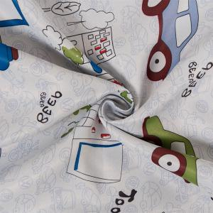 Grommet Top Cartoon Blackout Car Curtains for Family Children Bedroom Living Room -