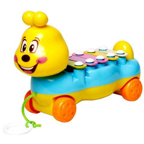 Online Children's Colorful Caterpillars Hand Knock Tractors Animals early Musical Instruments The Enlightenment Educational Mus