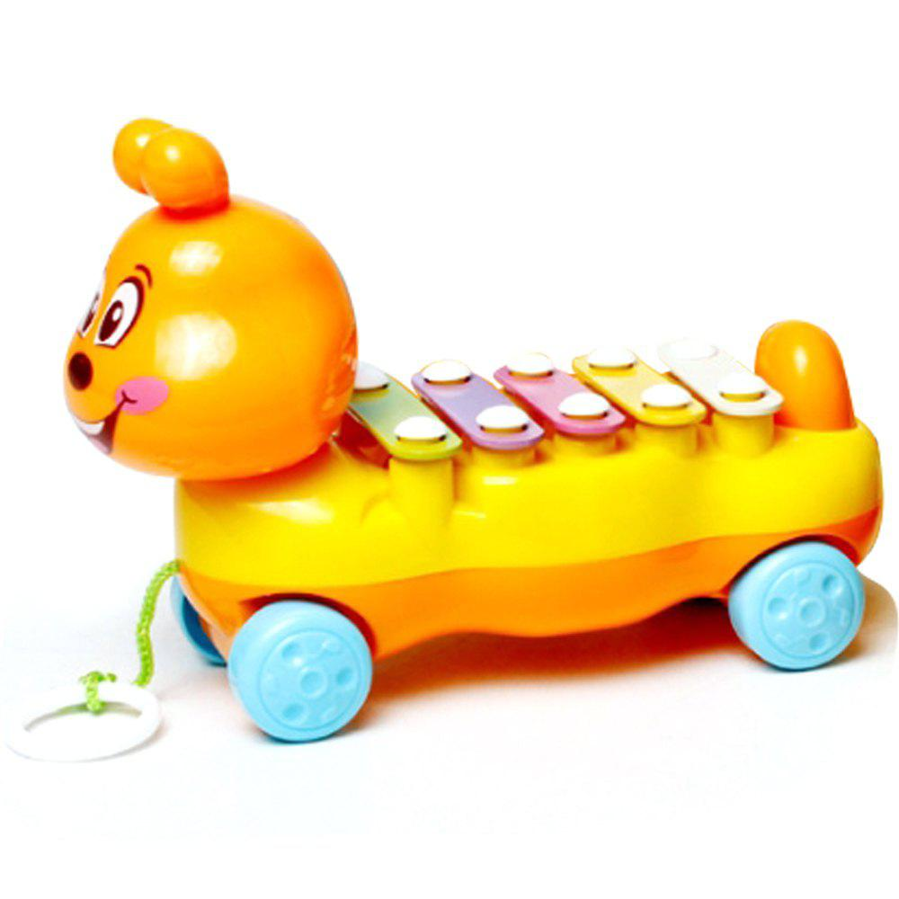 Cheap Children's Colorful Caterpillars Hand Knock Tractors Animals early Musical Instruments The Enlightenment Educational Mus