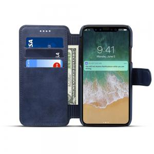 High Quality Cow Leather Wallet Stand Case for iPhone X -