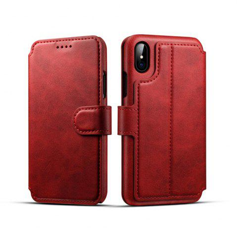 Cheap High Quality Cow Leather Wallet Stand Case for iPhone X