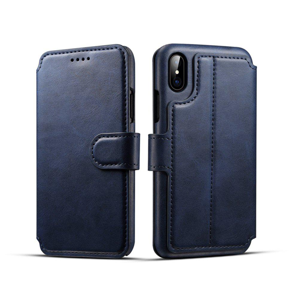 Sale High Quality Cow Leather Wallet Stand Case for iPhone X