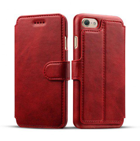 Online High Quality Cow Leather Wallet Stand Case for iPhone 7 / 8