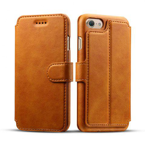 Cheap High Quality Cow Leather Wallet Stand Case for iPhone 7 / 8