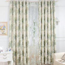 Korean Pastoral Style High-End Mahjong Blackout Curtains Grommet 2PCS -