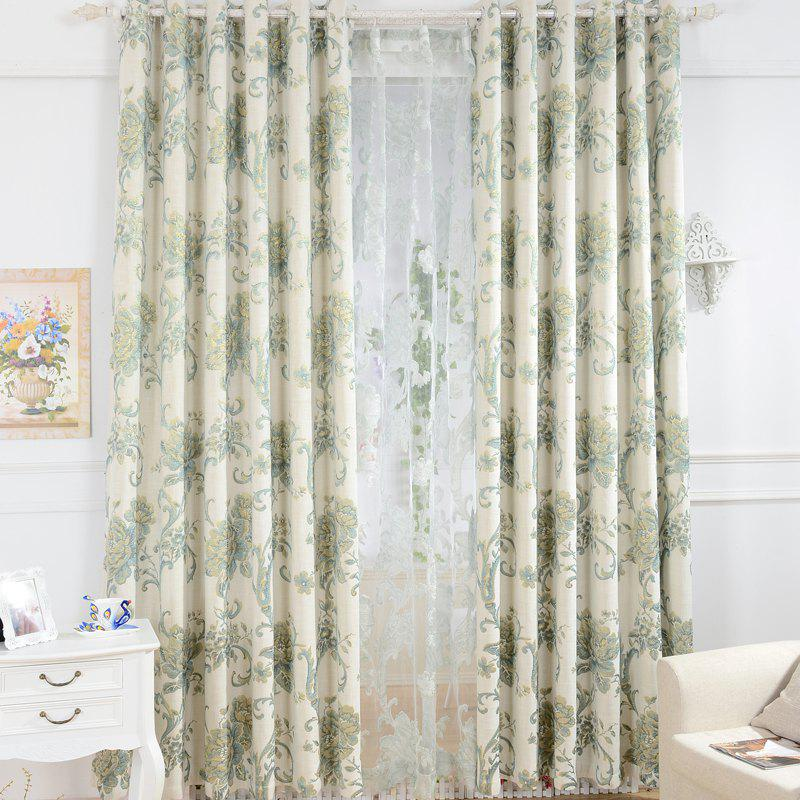 Latest Korean Pastoral Style High-End Mahjong Blackout Curtains Grommet 2PCS