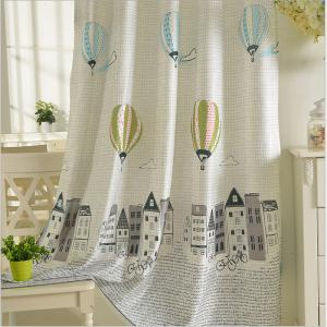 Children Room Cute Cartoon Style Printing Curtains Grommet 2PCS -