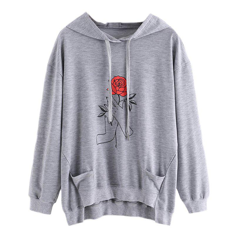 Online Women's Fashion Large Size Hand Hoodie