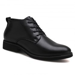 Stylish Casual Lace Up Men Leather Shoes -
