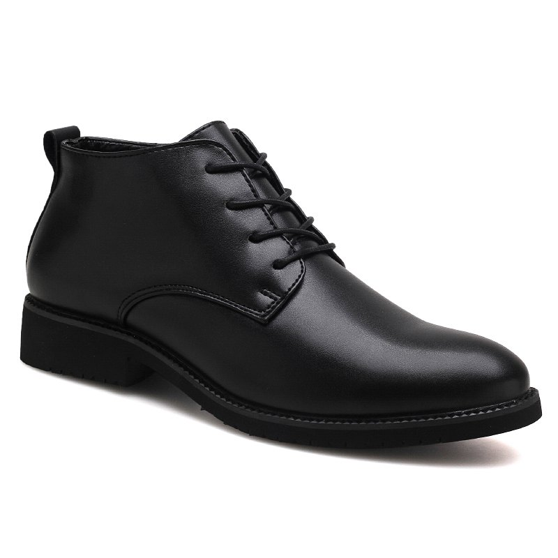 Fashion Stylish Casual Lace Up Men Leather Shoes