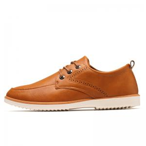 Male Business Stylish Gradient Toe British Casual Leather Shoes -
