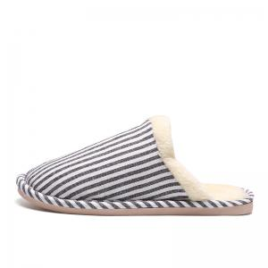 Men's Houses Striped Cotton Slippers -
