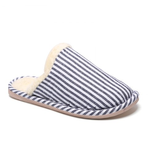 Trendy Men's Houses Striped Cotton Slippers