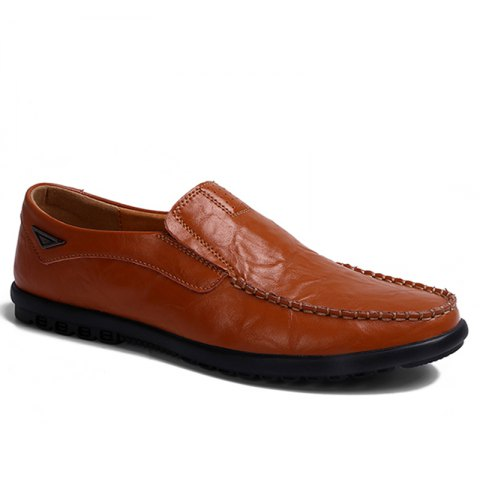 Cheap Casual Driving  Men Soft Leather Shoes