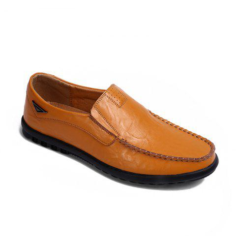 Chic Casual Driving  Men Soft Leather Shoes
