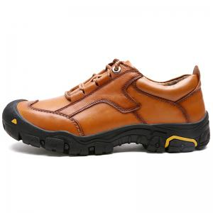 New Outdoor Hiking Top Layer Leather Shoes for Men -