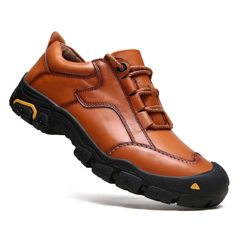 Discount New Outdoor Hiking Top Layer Leather Shoes for Men
