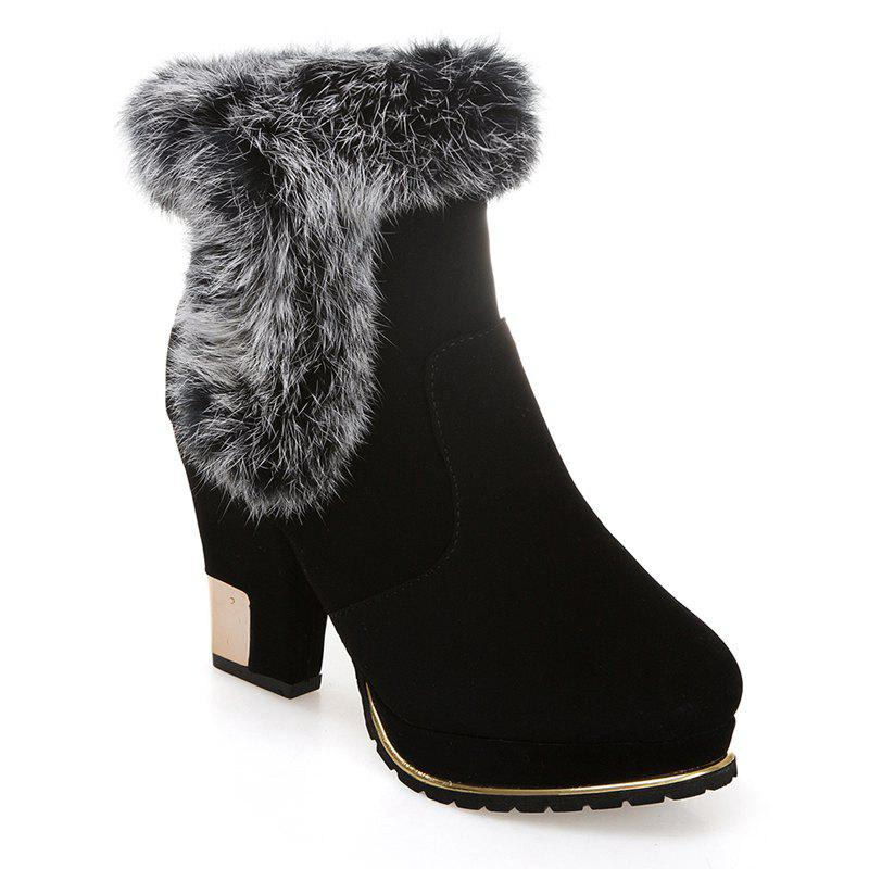 Discount New Fashion and All-match Plus Velvet Warm Female Boots