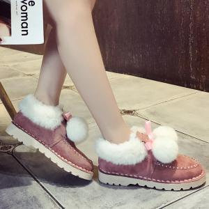 New Autumn and Winter Warm Velvet Plush Women Shoes -