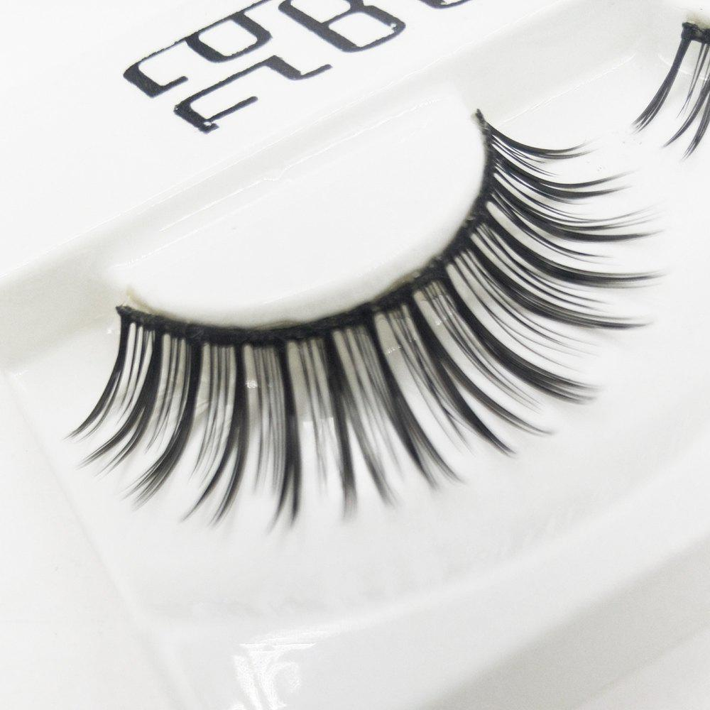 Hot 1 Pair Black Natural Long Roll Become Warped False Eyelash