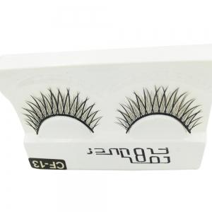 1 Pair Black Natural Roll Become Warped Long False Eyelash -
