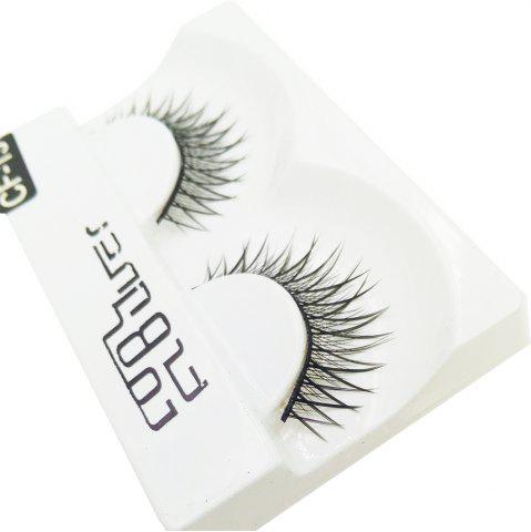 Affordable 1 Pair Black Natural Roll Become Warped Long False Eyelash