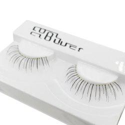 1 Pair Black Natural Long Transparent Terrier False Eyelash -