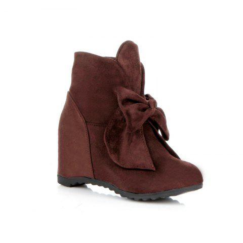 Chic Round Head Bow Increased Fashion Sweet Boots