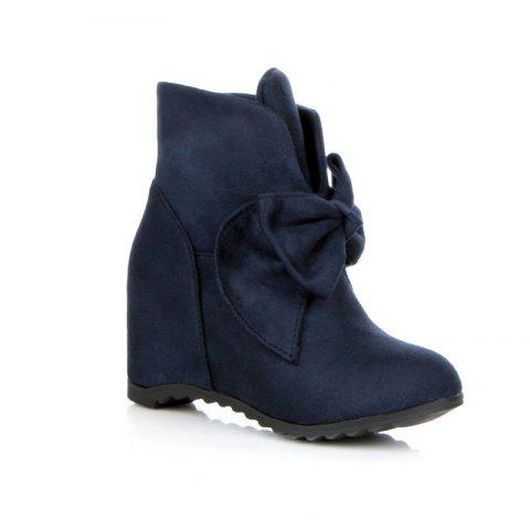 Trendy Round Head Bow Increased Fashion Sweet Boots