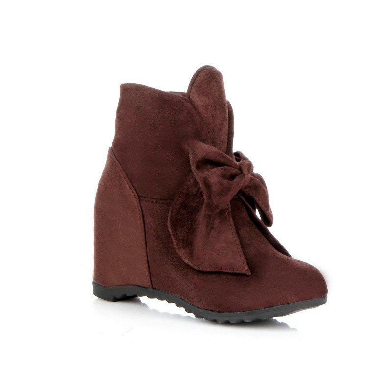 Cheap Round Head Bow Increased Fashion Sweet Boots