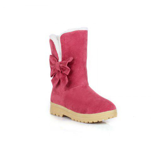 Buy Round Flat-Bottomed Sweet Bowknot Short Boots