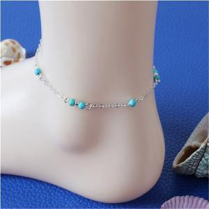 Stylish Female Turquoise Jewelry Anklets Chain -