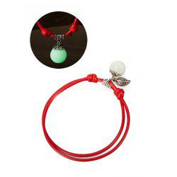 Women Ankle Chain Vintage All Matched Luminous Fashion Accessory YMJL-Red -