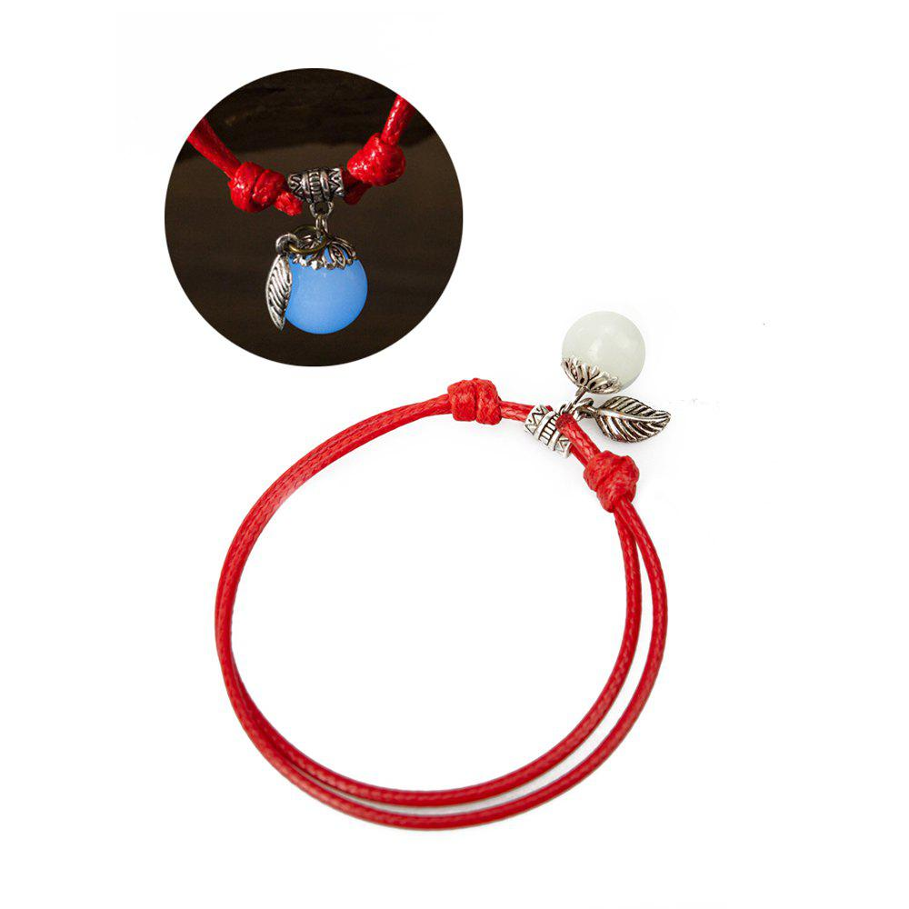 Chic Women Ankle Chain Vintage All Matched Luminous Fashion Accessory YMJL-Red