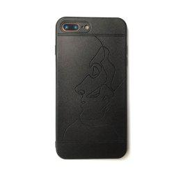 Lover Pattern Balck TPU Soft Case for iPhone 7 Plus / 8 Plus -