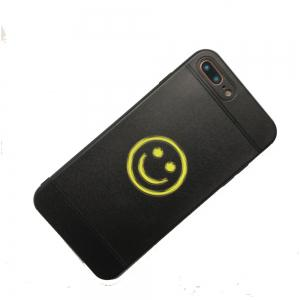 Yellow Face Pattern Balck TPU Soft Case for iPhone 7 Plus / 8 Plus -