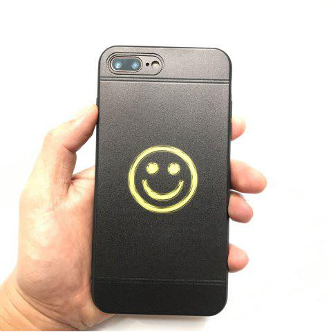 Sale Yellow Face Pattern Balck TPU Soft Case for iPhone 7 Plus / 8 Plus