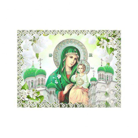 Outfit Naiyue 9584 Green Religion Print Draw Diamond Drawing