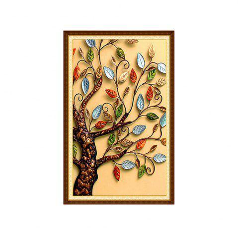 Naiyue 3500-3 Color Leaf Tree Tirage Draw Dessin au diamant
