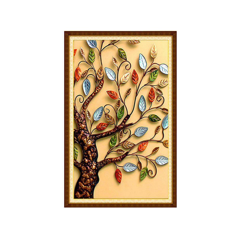 Best Naiyue 3500-3 Color Leaf Tree Print Draw Diamond Drawing